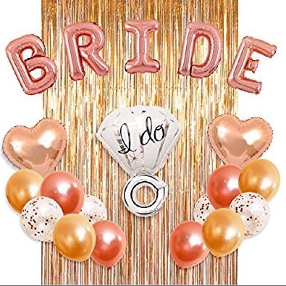bridal shower kit rose gold